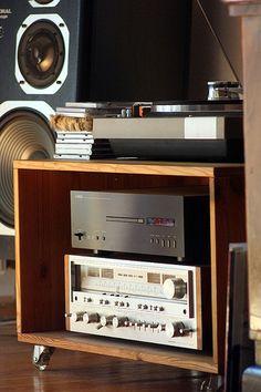 Vintage audio hi fi stereo turntable