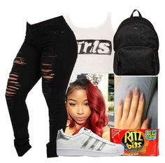 """""""Draft"""" by illest-chrissy ❤ liked on Polyvore featuring Alexander Wang, adidas Originals and Hogan"""