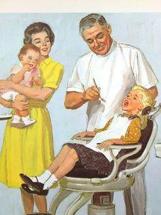 Vintage School Poster Dentist Illustrated Color by vintagegoodness, $14.95