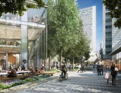 norman foster and partners south quay plaza residential tower designboom