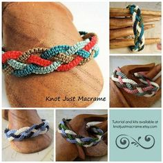 Simple to make braided macrame bracelet! These look great and are customizable in any color.