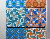 Mix Match Pattern Tile Coasters by Anna Benjamin