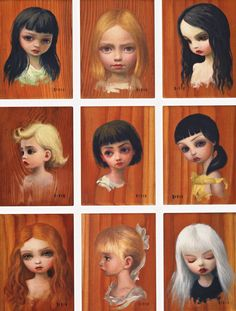The #TreeShow - #Girl #ColorStudies #OilonWood #2006 by #MarkRyden #PopSurrealism