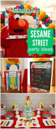Check out this Elmo's World Sesame Street birthday party! See more party ideas at CatchMyParty.com!