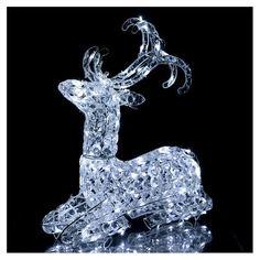 c89e68b0773 Rena Luminosa de Natal Deitada 120 Lâmpadas LED Branco Frio Interior  Exterior  luzesdenatal