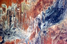 Not a painting - a Satellite image of the Australian Outback (Saturated Photo) -24.569606,139.202271.