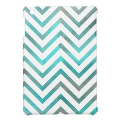 Turquoise White Chevron Cover For The iPad Mini