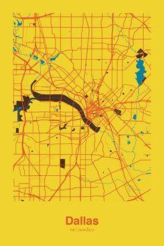 Dallas, USA Map Print
