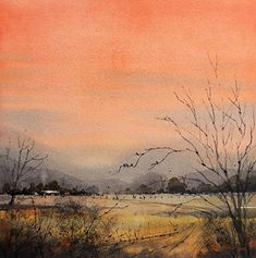 Tim Oliver - Solstice Sunset- Watercolor - Painting entry - June 2018   BoldBrush Painting Competition