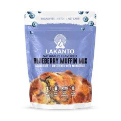 Our naturally flavored blueberry muffin mix gets rid of the high-carbs and high-sugar in other muffins by mixing together almond and coconut flour with our Non-GMO Lakanto Monkfruit Sweetener! Sugar Free Blueberry Muffins, Blue Berry Muffins, Gourmet Recipes, Keto Recipes, Fruit Recipes, Snack Recipes, Snacks, Best Sugar Substitute
