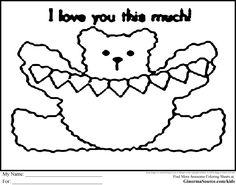 Cute Coloring Pages to Print Teddy