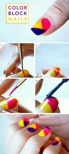 Yellow, Pink, & Purple Nails, we can't get enough!