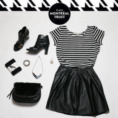 Osez le mélange des matières ! / Go ahead… mix things up a little! #PMTLook #PlaceMtlTrust #Look #Mode #Fashion #VeroModa #SmartSet #Winners #NStyleNailLounge
