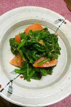ほうれん草とトマトの生姜サラダ