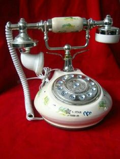 Telephone Song, Telephone Table, Vintage Telephone, Antique Phone, Retro Phone, Vintage Phones, Home Phone, Landline Phone, Retro Vintage