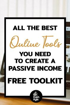 All The Best Online Tools You Need To Create Passive Income. Get Your Hands on this FREE Ultimate Passive Income Toolkit that will save you hours of research deciding which online tools to use. This is what I used to grow my online business to 6 figures and beyond while keeping my expenses low. Earning Money, Make Money Blogging, Make Money Online, How To Make Money, Income Streams, Work From Home Jobs, Pinterest Marketing, Self Development, Passive Income