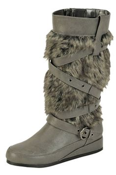 Lace Up Fur Boot