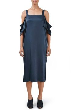 Topshop Boutique Off the Shoulder Midi Dress available at #Nordstrom