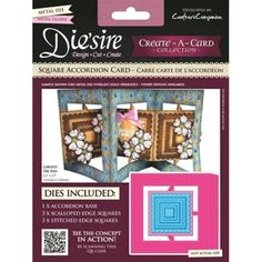 Diesire Crafters Companion Diesire Create a Card Accordion Cards - Square Accordion Card Die - Diesire from Mountain Ash Crafts UK Ship Craft, Crafters Companion, Cross Stitch Kits, Crafts To Do, Cardmaking, Overlays, Jigsaw Puzzles, Create, Metal