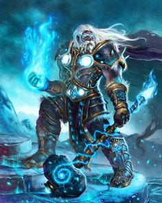 World of Warcraft Death Knight reminiscent of the Lich King By EricBraddock via deviantART