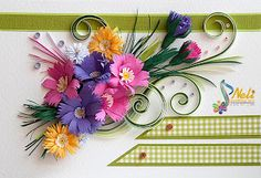 Neli is a talented quilling artist from Bulgaria. Her unique quilling cards bring joy to people around the world. Quilling Work, Neli Quilling, Quilling Cards, Paper Quilling, Quilling Patterns, Quilling Designs, Quilling Ideas, Paper Art, Paper Crafts