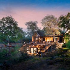 Luxus-Safari Lodge im Krüger Nationalpark in Südafrika.
