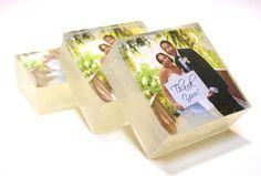 customized photo wedding favor soaps