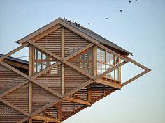 Torre-Mirador para la observación de aves|Espacios en madera