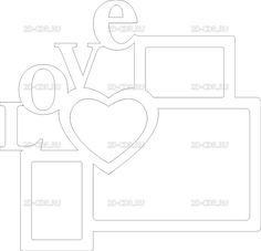 Вектор Love с сердцем для лазерной резки (CorelDraw) Cardboard Crafts, Paper Crafts, Laser Cutter Projects, Photo Frame Design, Craft Images, Felt Books, Frame Clipart, Scroll Saw Patterns, Photo Holders
