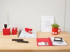Red Desktop Essentials from Poppin #workhappy #red