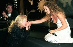 Jeanne Moreau and Vanessa Paradis at the Cannes Film Festival, 1995