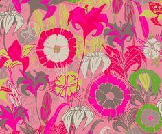 Preeti tropical floral fabric