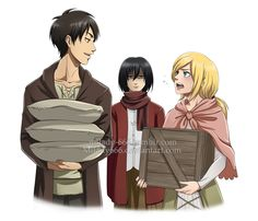 Eren and Mikasa and Historia/Krista