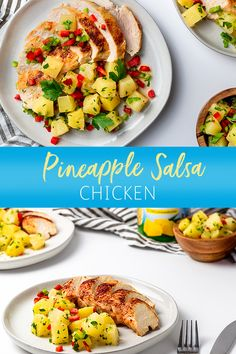 Upgrade your weeknight dinner plan with Pineapple Salsa Chicken. Just combine grilled, or baked, chicken with salsa made from Dole Pineapple Chunks for an easy entree that's ready in as little as 30min!