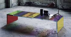 Piero Lissoni Dark Side of the Moon glass table Glas Itali