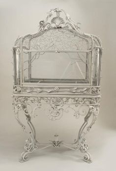 miss-mary-quite-contrary: French Victorian white-painted wrought iron terrarium. (via history of terrariums terrarium roundup | Design*Spo...