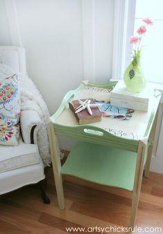 DIY Colorful Beachy Coastal Dresser Makeover