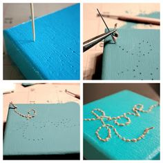 The Sweet Spot: DIY Stitched Canvas Wall Art