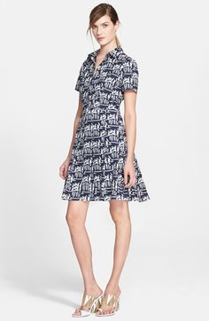 Tory Burch Stretch Cotton Poplin Shirtdress available at #Nordstrom