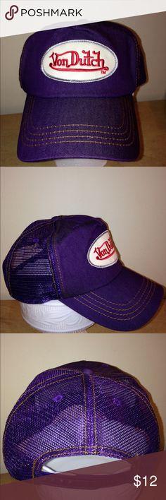 Von Dutch hat Von Dutch hat in deep plum   purple color. In excellent  condition adf3aa2e7406