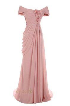 Off-the-shoulder Long Mother of The Bride Dress /Evening Dresses Am32