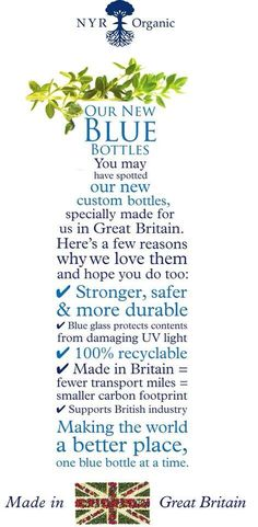Beautiful Cobalt Blue Bottles with Neal's Yard Remedies....What's in your bottle? http://nyrorganic.com/shop/bellarose