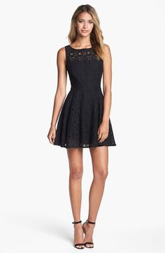 BB Dakota 'Renley' Lace Fit & Flare Dress (Nordstrom Exclusive) | Nordstrom