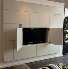 Healthy living tips fitness program near me today Entertainment Center Wall Unit, Entertainment Center Decor, Best Tv Wall Mount, Wall Mounted Tv, Hidden Storage, Beautiful Space, Built Ins, House Plans, Flat Screen