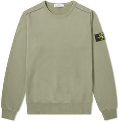 Stone Island Garment Dyed Crew Sweat In Green Stone Island Jumper, Island Man, Hoodies, Sweatshirts, Sweater Hoodie, Mens Fashion, Tees, Jackets, Outfits