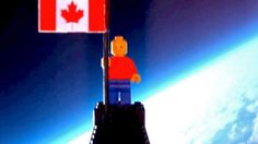 Two Canadian grade 12 students used used a helium-filled weather balloon and a makeshift Styrofoam box to send the tiny plastic LEGO figure about 24 kilometres into the air. Lego Canada, Weather Balloon, Lego Man, Lego Figures, Toronto, Balloons, Safety, Students, Teen