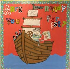 classroom decor, school, pirate theme, pirate bulletin board, bulletin boards, pirat theme, teach, first grade, board idea