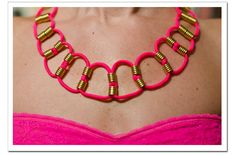 DIY Braided Neon Necklace