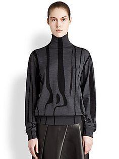 Jil Sander Wool Animal Stripe Sweater