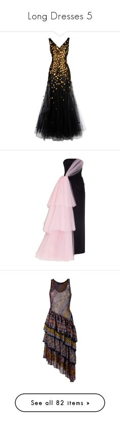 """Long Dresses 5"" by thesassystewart on Polyvore featuring dresses, gowns, black, long dresses, long gown, sleeveless dress, oscar de la renta dresses, long evening dresses, long evening gowns and sleeveless long dress"